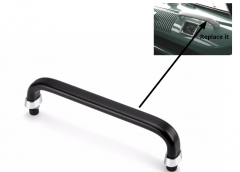 Split Screen Dash Grab Handle Aluminum in Black 50-67
