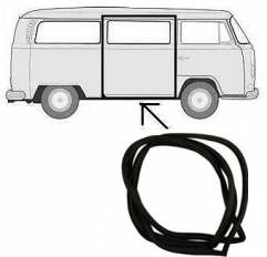Right Sliding Door Rubber Seals Type 2 Bus Bay window 1968-1979 LHD
