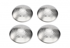4PCS KDF Cogwheel Flying Wheel Hub Caps Stainless Steel