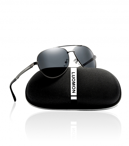 Polarized Aviator Sunglasses LM033 (61-15-135)