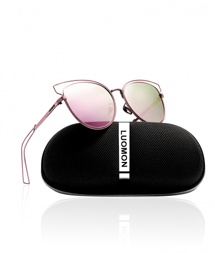 Polarized Cat Eye Sunglasses LM002 (55-13-140)