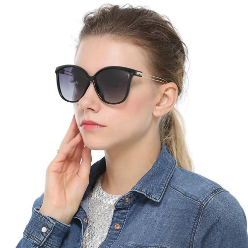 Polarized Gradient Cat Eye Sunglasses LM5002 (55-18-145)