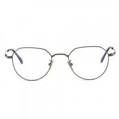 Fashion Artsy Polygon Alloy Eyeglasses EG9606 (65-16-136)