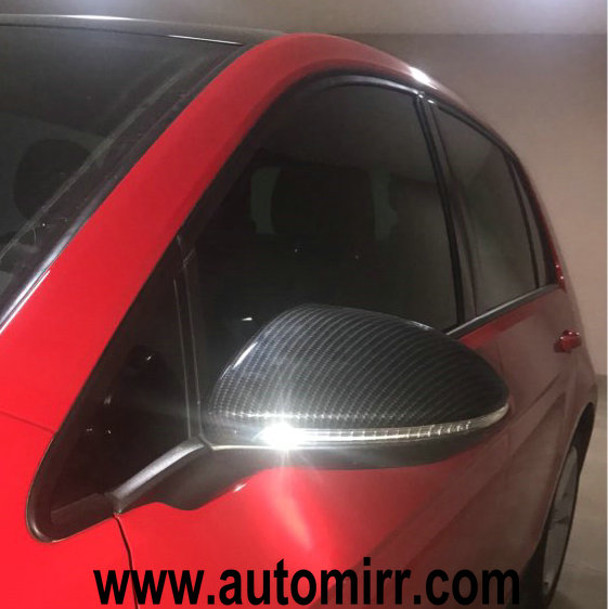 Golf Mk7 Side Wing Mirror Covers Replacement Carbon Look