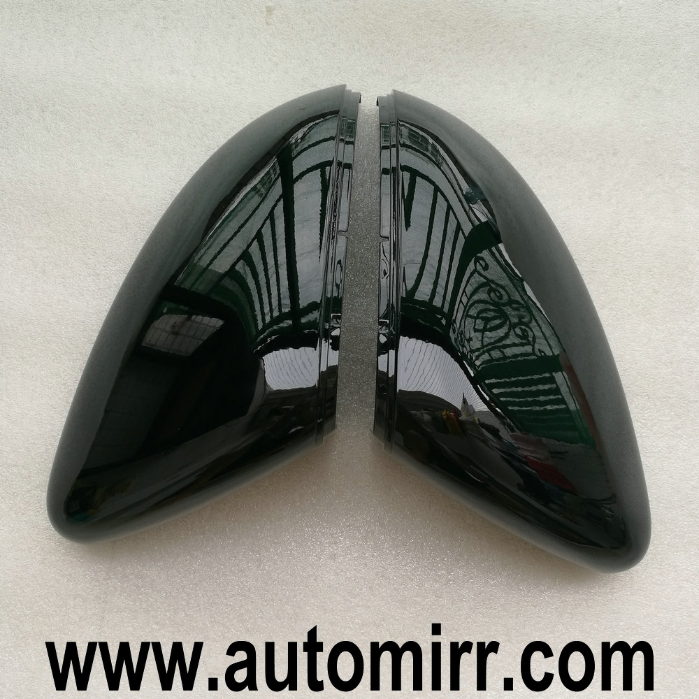 Glossy Black Side Wing Mirror Cover Golf Mk7 Gti 7 Polo Scirocco Passat Cc Vw Replacement