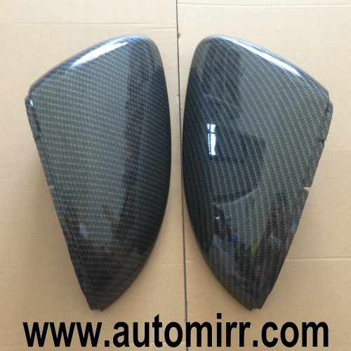 Golf MK7 Side Wing Mirror Covers replacement Carbon Look one pair fit VW Golf GTI 7