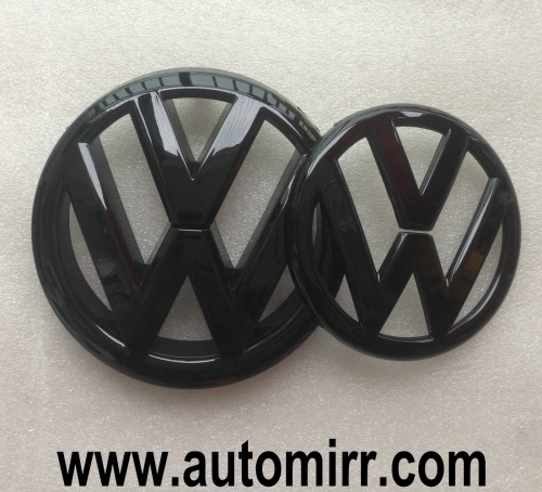 Golf MK6 MK7 emblem logo glossy shiny black fits VW Golf VI VII GTI 6 7 badges front and rear