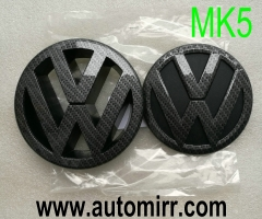 Golf MK5 emblem logo glossy shiny black fits VW Golf V GTI 5 badges front and rear