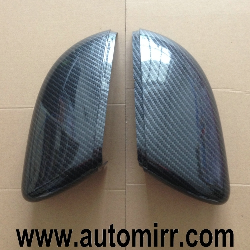VW Golf MK6 Touran Side Wing Mirror Cover Caps replacement Carbon Look one pair fit VW Golf GTI 6 R20