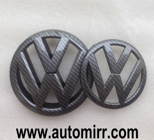 Golf MK6 MK7 emblem logo carbon look fits VW Golf GTI 6 7 badges front and rear