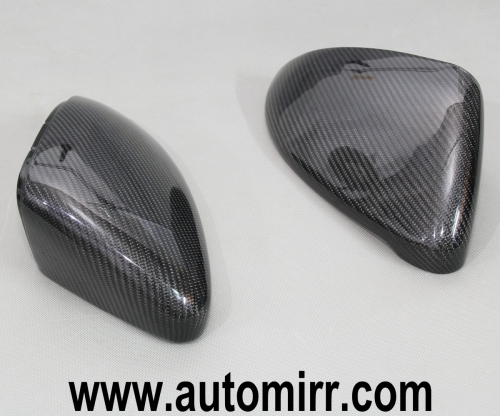 Golf MK7 Carbon Fiber CF Side Wing Mirror Covers replacement one pair fit VW Golf GTI 7