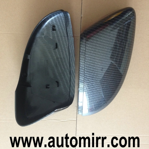 VW Scirocco Jetta MK6 Side Wing Mirror Cover Caps replacement Carbon Look one pair fit VW CC Passat B7 Beetle