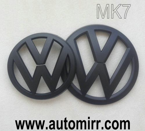 Golf MK6 MK7 emblem logo matte black fits VW Golf VI VII GTI 6 7 badges front and rear