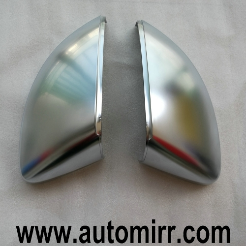Audi A3 8V Silver Matte Chrome brushed Side Wing Mirror Covers Caps replacement
