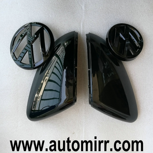 Golf MK7 Front emblem +rear logo +Side mirror covers fits VW Golf GTI 7 VII replacement decoration