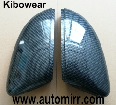 Kibowear for Polo 6R 6C Side Door Wing Mirror Cover Replacement caps (carbon look) fit VW Polo 2009 2010 2011 2012 2013 2014