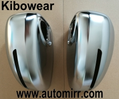 Kibowear 2006 2014 TT Side Wing Mirror Caps fit Audi TT Mirror Covers Replacement Silver Matte Chrome trim 2008 2009 2010 2011