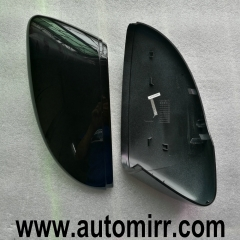 Scirocco MKIII Glossy Black Side Mirror Covers Caps ABS (metal black) fit VW Jetta MK6 Shell 1:1 Replacement trim 2010 2011 2012