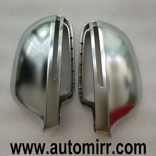 2009 A4 B8 A6 C6 Chrome Side Wing Mirror Covers Cap fit Audi A6L A4L A8 Q3 A5 B8 8K case Replacement Silver Matte