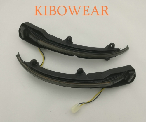 KIBOWEAR For Audi Q5 Q7 SQ5 SQ7 Dynamic Blinker LED Turn Signal side mirror Sequential indicator 2009 2015