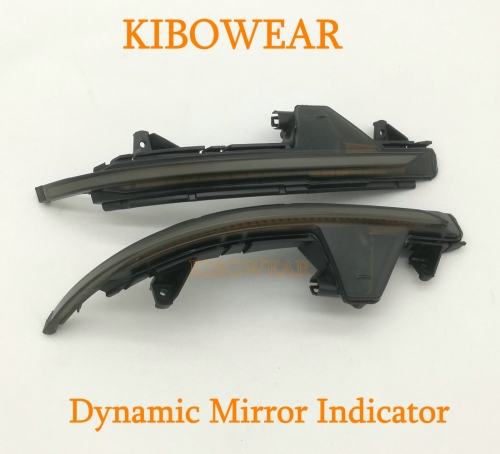 KIBOWEAR Dynamic Blinker Mirror Light for Audi A7 S7 RS7 2011-2017 Side LED Turn Signal Indicator