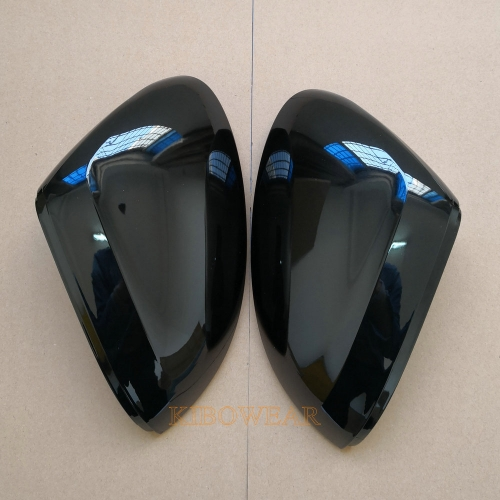 Kibowear for VW Passat B8 Variant Arteon Glossy Black Side Mirror Covers Caps 2016 2017 2018 2019