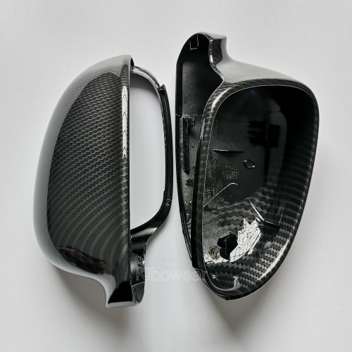 Golf MK5 GTI 5 Jetta MK5 Passat B5.5 B6 Side Wing Mirror Covers replacement Carbon Look one pair fit VW sharan Skoda superB