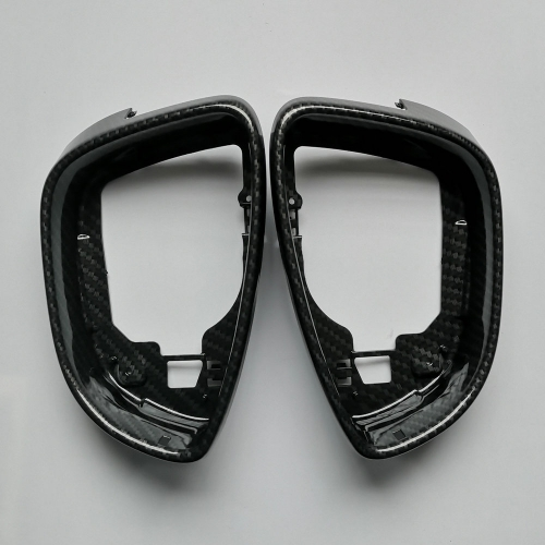 Carbon Look Mirror Frame for VW Scirocco Passat B7 Jetta MK6 CC Beetle Side Wing Trim Replacement