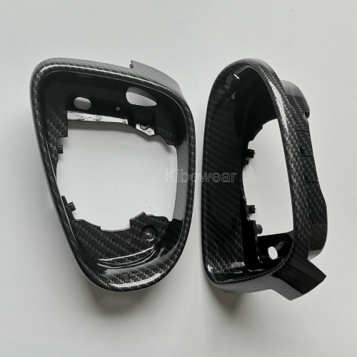 Carbon Look Mirror Frame for VW Golf 6 MK6 GTI R20 Side Wing Trim Replacement