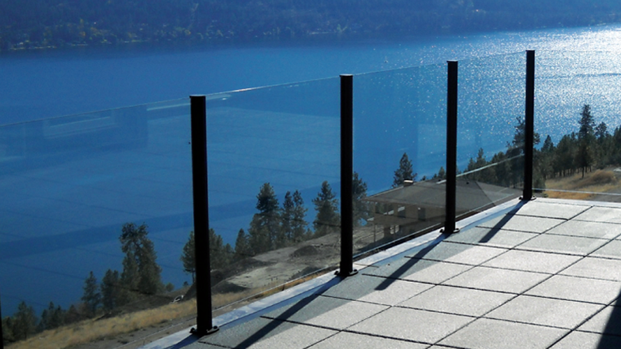 glass railings, glass fences
