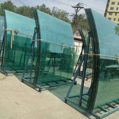 Jumbo curved tempered laminated glass