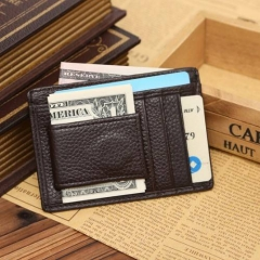 Mens Credit Card Wallet, Slim Leather Wallet, Id Wallet Mens