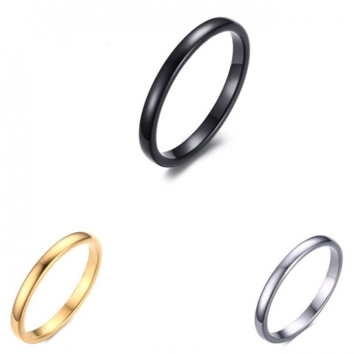Domed Polished Tungsten Carbide Ring -2mm