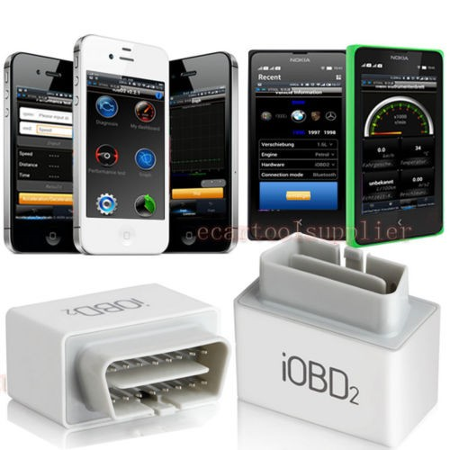 New and original Xtool IOBD2 Adapter OBD2 Bluetooth AUTO KFZ Scanner Diagnose für iPhone Android
