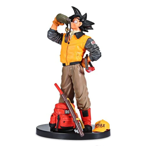 Real Action Characters Anime Model Seven Dragon Ball Martial Arts 3 Drinking Water Wukong PVC Box Decoration