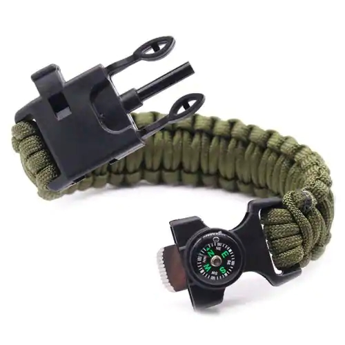 6 in 1 Cool!Multi Function Outdoor Survival Bracelet