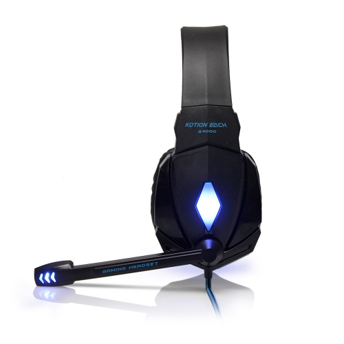 G4000 Gaming Headsets Large Headphone with Light Mic Stereo Earphone Deep Bass for PC Computer Gamer Laptop PS4 New x-BOX