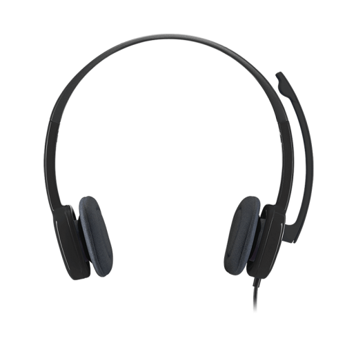 Logitech H151 Stereo Noise-Canceling Computer Headphone Headset 3.5mm Over-Ear Earphone