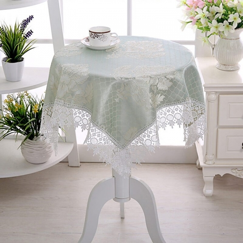 Small Fresh Rural Style Tablecloth Round Square Coffee Table Tablecloth Lace Multi-purpose Household Dustproof Decorative Cloth