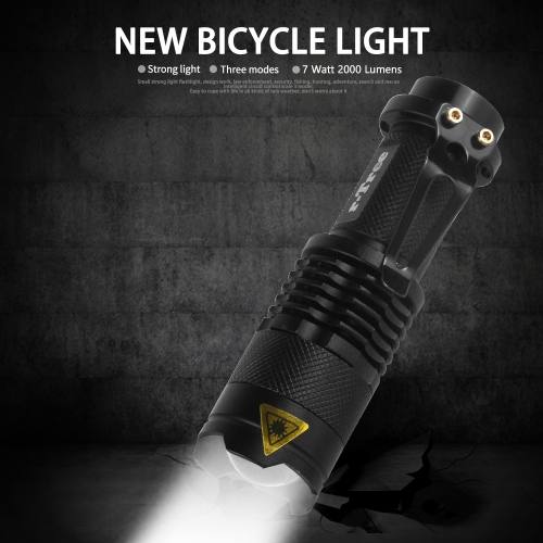 Bicycle Light 7W 2000 Lumens 3 Mode LED Bicycle Headlight Waterproof ZOOM Flashlight BL0502