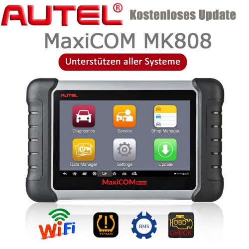 Autel MaxiCOM MK808 OBD2 diagnostic device with all system & service functions incl. Oil reset, EPB, BMS, SAS, DPF, TPMS and IMMO