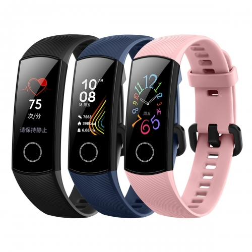 Honor Band 5 Waterproof Bluetooth Fitness/Activity Tracker with Heart Rate Monitor, AMOLED Color Display, Touch Screen