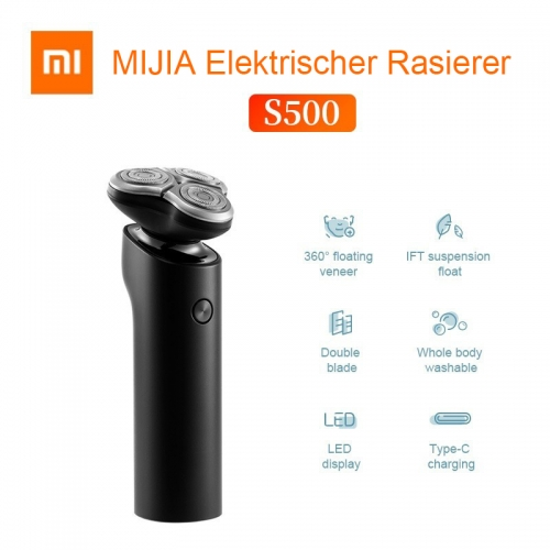 Original Xiaomi MIJIA S500 LED Display Washable Electric Shaver