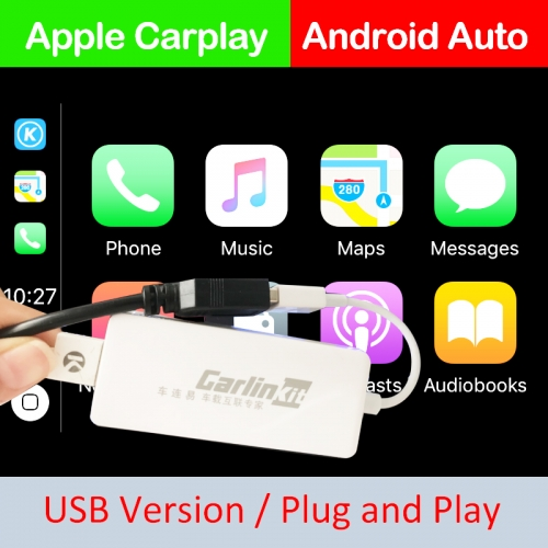 Carlinkit USB Smart Link Apple CarPlay Dongle For Android Navigation Player Mini USB Carplay Support For Android and iOS Dual Phone System