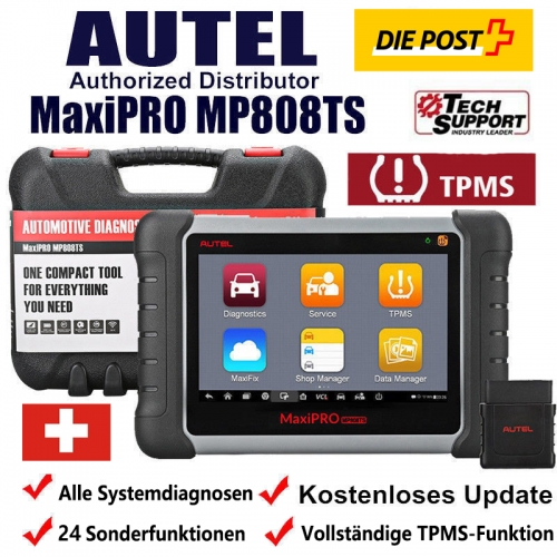 Autel MaxiPRO MP808TS Complete TPMS / RKDS Bluetooth OBD2 All systems and 24 special functions Vehicle diagnostic device / Vehicle error code TPMS sca