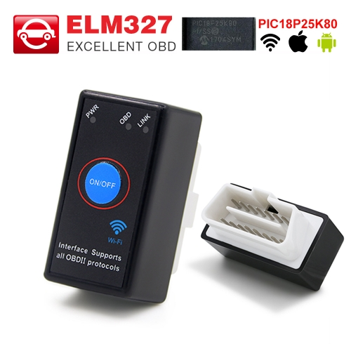 ELM327 V1.5 with PIC18F25K80 Chip MINI ELM327 Bluetooth 4.0 / Wifi OBD2 Scanner Code Reader for Android / IOS 12V Car Auto Diagnostic Tool