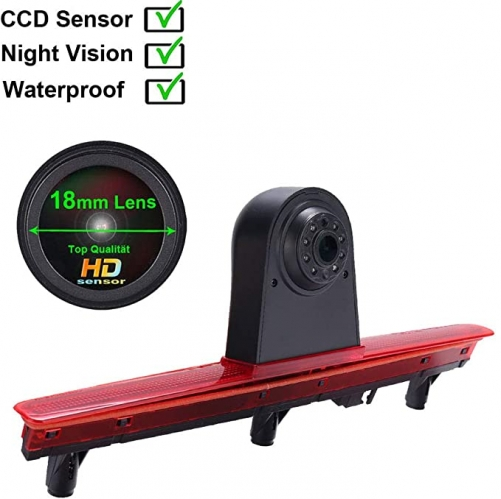 HD 1280x720 Pixel Transporter Van waterproof night vision rear view camera in 3rd brake light for VW T5 Bus Multivan Caravelle 2003-2015