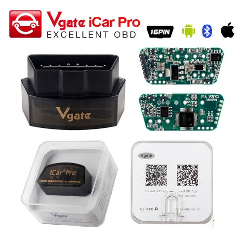 Vgate iCar Pro Bluetooth 4.0 OBD2 scanner For Android / IOS as icar2 ELM327 Bluetooth Auto Code Reader OBDII diagnostic tool