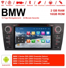 7 inch Android 9.0 Car Radio / Multimedia 2GB RAM 16GB ROM for BMW 3 Series E90 Saloon E91 Touring E92 Coupe E93 Cabriolet