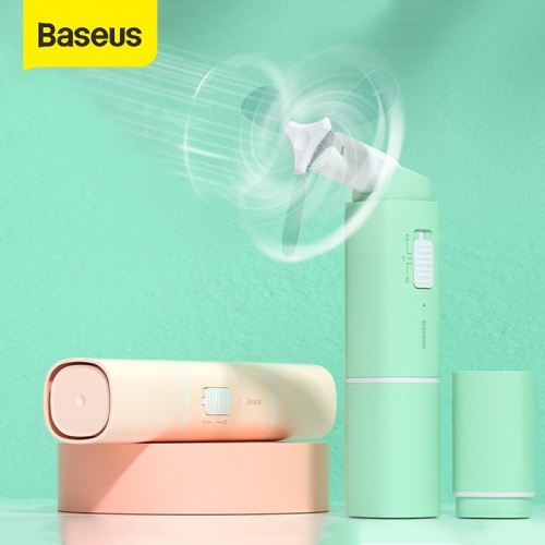 Baseus Portable Handheld Fan with 2 Speed Mini USB Cooler Fan Rechargeable Folding Handheld Fan For Office Home